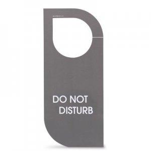 Linea easy Cartellino non disturbare/rifare la camera in cartoncino. Dim.: l 8,2 x h 19 cm.