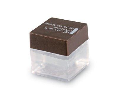Shampoo doccia incolore trasparente in flacone Cubo 30ml.