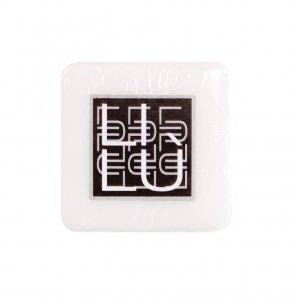 Sapone 15g quadrato filmato, etichetta stampata.