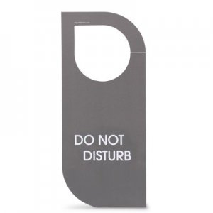 Linea easy Cartellino non disturbare/rifare la camera in cartoncino. Dim.: l 8,2 x h 19 cm.