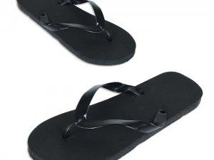 Infradito neutra modello ACQUA, colore nero, suo- la in gomma da 13 mm, fascetta di contenimento piede in PVC nero