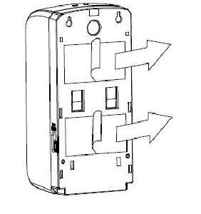 retro dosatore e posizione adesivi
