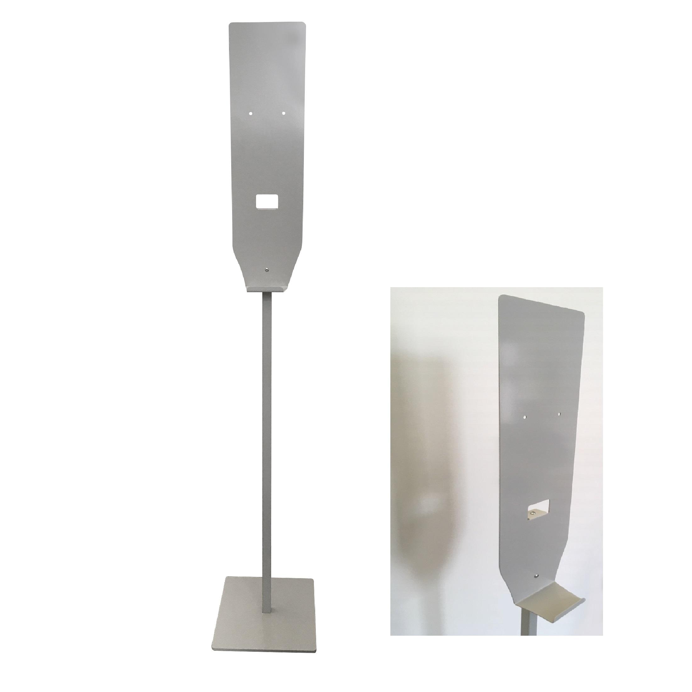 colonna portadosatore gel igienizzante colore argento