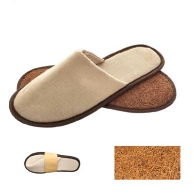 pantofole per hotel ecologiche in lino e palma